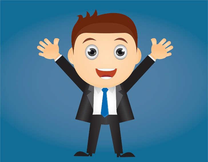 Kredit ohne nachweise - Bild zeigt einen Geschäftsmann der sich freut